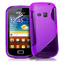 Coque Samsung Galaxy Mini 2 S6500 S-Line Silicone Gel Housse - Pourpre
