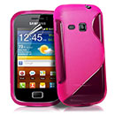 Coque Samsung Galaxy Mini 2 S6500 S-Line Silicone Gel Housse - Rose Chaud