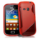 Coque Samsung Galaxy Mini 2 S6500 S-Line Silicone Gel Housse - Rouge