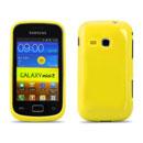Coque Samsung Galaxy Mini 2 S6500 Silicone Gel Housse - Jaune