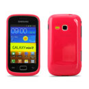 Coque Samsung Galaxy Mini 2 S6500 Silicone Gel Housse - Rouge
