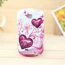 Coque Samsung Galaxy Mini S5570 Amour Silicone Housse Gel - Pourpre