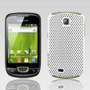 Coque Samsung Galaxy Mini S5570 Filet Plastique Etui Rigide - Blanche