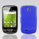 Coque Samsung Galaxy Mini S5570 Filet Plastique Etui Rigide - Bleu