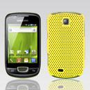 Coque Samsung Galaxy Mini S5570 Filet Plastique Etui Rigide - Jaune