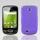 Coque Samsung Galaxy Mini S5570 Filet Plastique Etui Rigide - Pourpre
