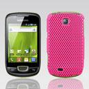 Coque Samsung Galaxy Mini S5570 Filet Plastique Etui Rigide - Rose Chaud