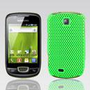 Coque Samsung Galaxy Mini S5570 Filet Plastique Etui Rigide - Verte