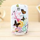 Coque Samsung Galaxy Mini S5570 Papillon Silicone Housse Gel - Verte