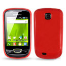 Coque Samsung Galaxy Mini S5570 Silicone Gel Housse - Rouge