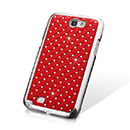Coque Samsung Galaxy Note 2 N7100 Diamant Bling Etui Rigide - Rouge
