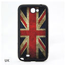 Coque Samsung Galaxy Note 2 N7100 Le drapeau du Royaume-Uni Etui Rigide - Gris