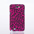 Coque Samsung Galaxy Note 2 N7100 Leopard Etui Rigide - Rose Chaud