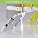 Coque Samsung Galaxy Note 2 N7100 Support Silicone Transparent Housse - Gris