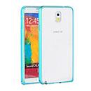 Coque Samsung Galaxy Note 3 N9000 Cadre Metal Plated Etui Rigide - Bleue Ciel