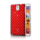 Coque Samsung Galaxy Note 3 N9000 Diamant Bling Etui Rigide - Rouge