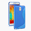 Coque Samsung Galaxy Note 3 N9000 S-Line Silicone Gel Housse - Bleu