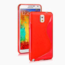 Coque Samsung Galaxy Note 3 N9000 S-Line Silicone Gel Housse - Rouge