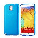 Coque Samsung Galaxy Note 3 N9000 Silicone Transparent Housse - Bleu