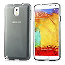 Coque Samsung Galaxy Note 3 N9000 Silicone Transparent Housse - Gris