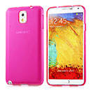 Coque Samsung Galaxy Note 3 N9000 Silicone Transparent Housse - Rose Chaud