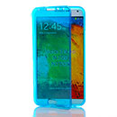 Coque Samsung Galaxy Note 3 Neo Lite N750 N7505 Flip Silicone Gel Housse - Bleu
