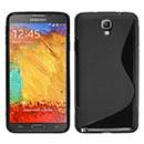 Coque Samsung Galaxy Note 3 Neo Lite N750 N7505 S-Line Silicone Gel Housse - Noire
