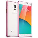 Coque Samsung Galaxy Note 4 N9100 Cadre Metal Plated Etui Rigide - Rose