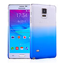 Coque Samsung Galaxy Note 4 N9100 Degrade Etui Rigide - Bleu