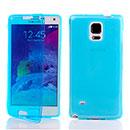 Coque Samsung Galaxy Note 4 N9100 Flip Silicone Gel Housse - Bleue Ciel
