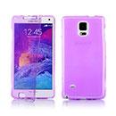 Coque Samsung Galaxy Note 4 N9100 Flip Silicone Gel Housse - Pourpre