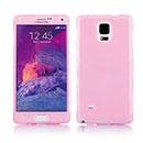 Coque Samsung Galaxy Note 4 N9100 Flip Silicone Gel Housse - Rose