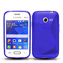 Coque Samsung Galaxy Pocket 2 G110H S-Line Silicone Gel Housse - Bleu