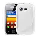 Coque Samsung Galaxy Pocket S5300 S-Line Silicone Gel Housse - Blanche