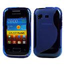 Coque Samsung Galaxy Pocket S5300 S-Line Silicone Gel Housse - Bleu