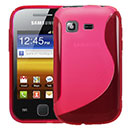 Coque Samsung Galaxy Pocket S5300 S-Line Silicone Gel Housse - Rose Chaud