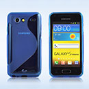 Coque Samsung Galaxy S Advance i9070 S-Line Silicone Gel Housse - Bleu