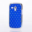 Coque Samsung Galaxy S Duos S7562 Luxe Diamant Bling Etui Rigide - Bleu