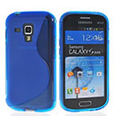 Coque Samsung Galaxy S Duos S7562 S-Line Silicone Gel Housse - Bleu