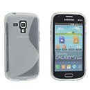 Coque Samsung Galaxy S Duos S7562 S-Line Silicone Gel Housse - Clear