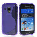 Coque Samsung Galaxy S Duos S7562 S-Line Silicone Gel Housse - Pourpre