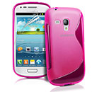 Coque Samsung Galaxy S Duos S7562 S-Line Silicone Gel Housse - Rose Chaud