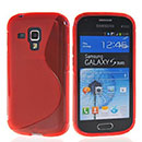 Coque Samsung Galaxy S Duos S7562 S-Line Silicone Gel Housse - Rouge