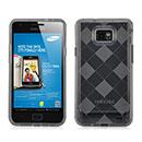 Coque Samsung Galaxy S2 Plus i9105 Grid Gel Silicone Housse - Gris