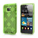 Coque Samsung Galaxy S2 Plus i9105 Grid Gel Silicone Housse - Verte