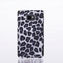 Coque Samsung Galaxy S2 Plus i9105 Leopard Etui Rigide Cover - Noire