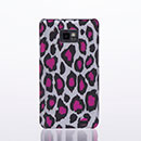 Coque Samsung Galaxy S2 Plus i9105 Leopard Etui Rigide Cover - Rose Chaud