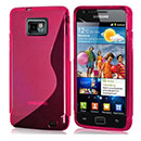 Coque Samsung Galaxy S2 Plus i9105 S-Line Silicone Gel Housse - Rose Chaud
