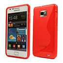 Coque Samsung Galaxy S2 Plus i9105 S-Line Silicone Gel Housse - Rouge