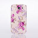 Coque Samsung Galaxy S3 4G i9305 Fleurs Plastique Etui Rigide - Pourpre
